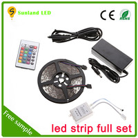 Hot sale flexible 5M/roll SMD5050 remote controlled battery operated led strip light