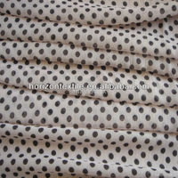 100% Polyester chiffon fabric with printed