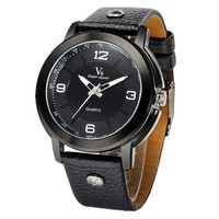 high quality new arrival alibaba hot sale V6 brand leather band wholesale watches
