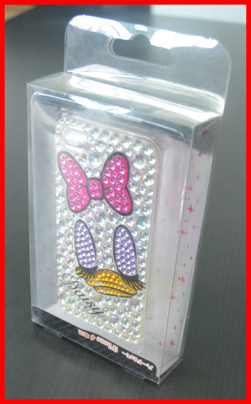 clear plastic packaging box for cell Phone case