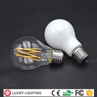 Milky Frosted Clear Glass Filament Led