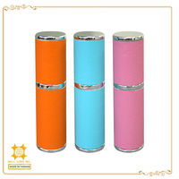 Branded wrapped imitation leather carry bulk empty perfume bottles