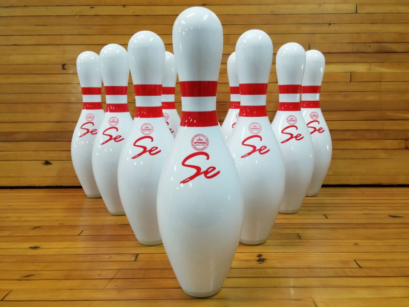 USBC Approved Bowling pins , White bowling pin