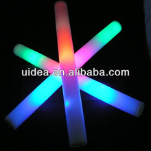 "18"" Colorful LED Foam Stick/ LED Light up baton glow stick"