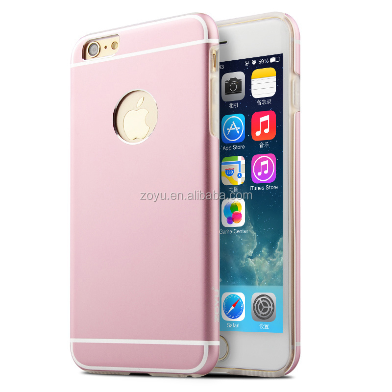 Brushed Aluminum Ultrathin Metal Cell Phone Case Cover Shell hard back case for iphone 6 case