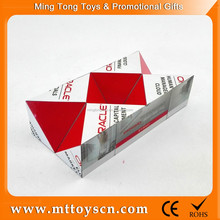 AD foldable custom change your design plastic toy magic folding cube