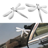Chrome Emblem Badge 3D Sticker Car Motorcycle Scooter Chrome Body Design Fashion Sticker Decoration Indoor Outdoor Dragon Fly