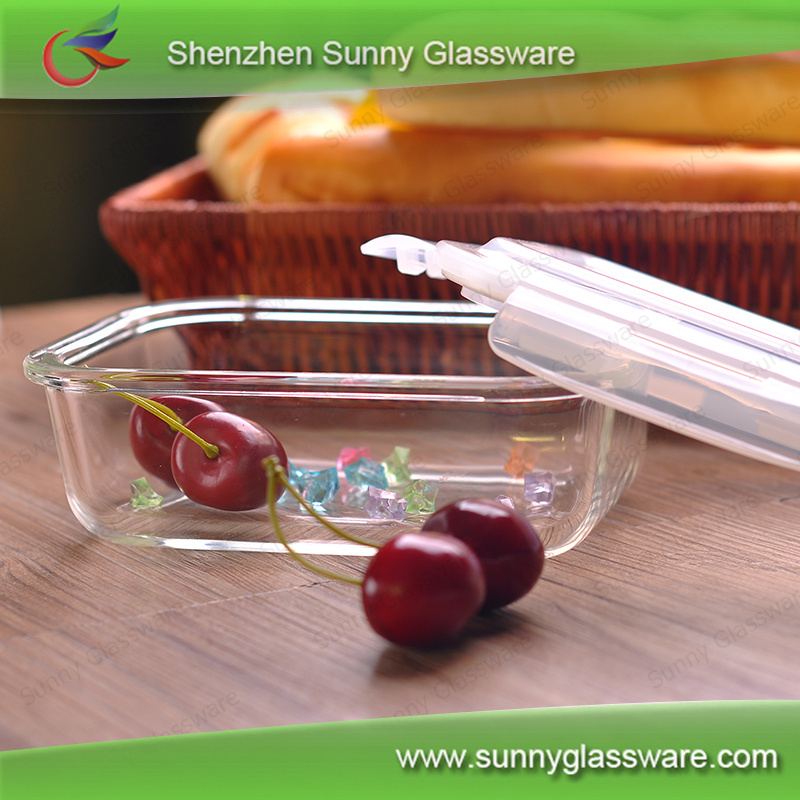 Factory wholesale microwave food container glass