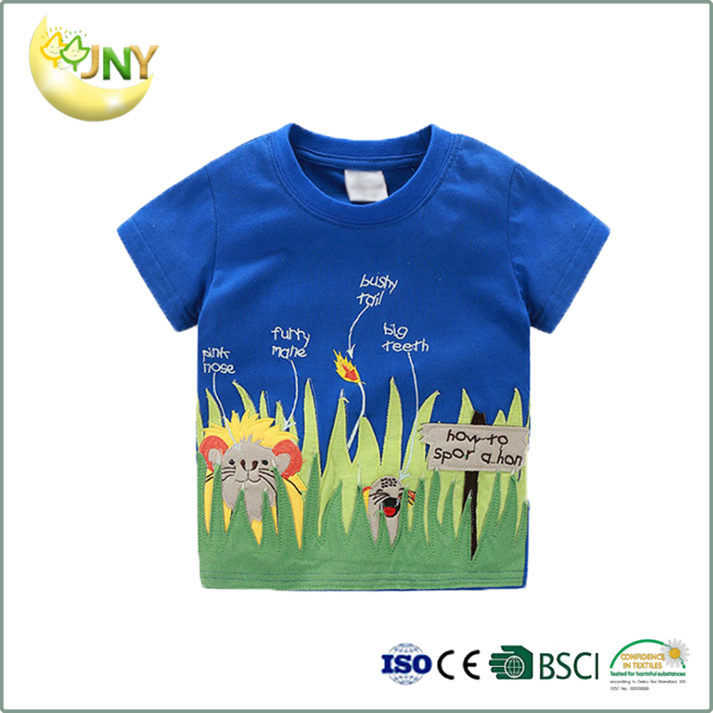 100% Premium cotton baby tee blue shirts