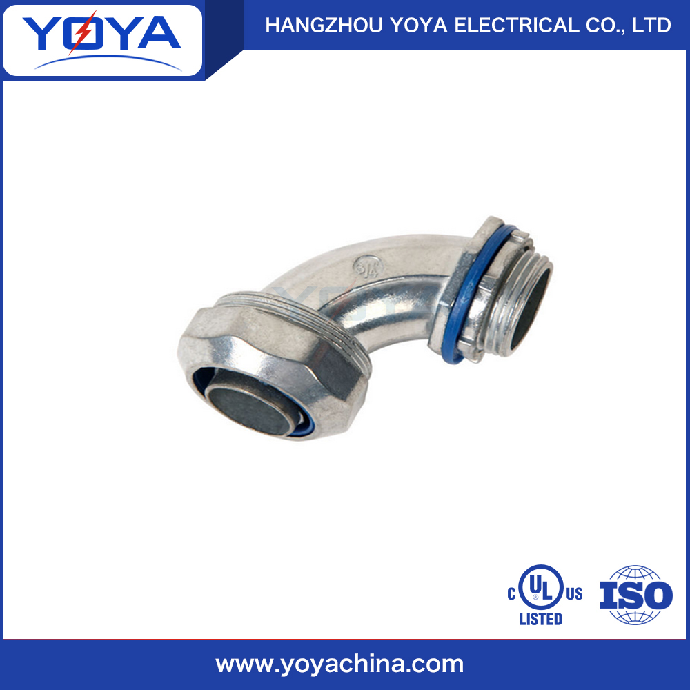 electrical metal connector for flexible conduit