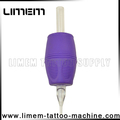 Best Sale purple 1 inch Silicone Tattoo Disposable Grip Rubber grip tube tattoo plastic grip Good Quality