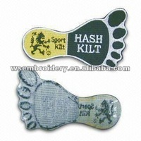 Embroidered foots patch/badge/emblem with iron on