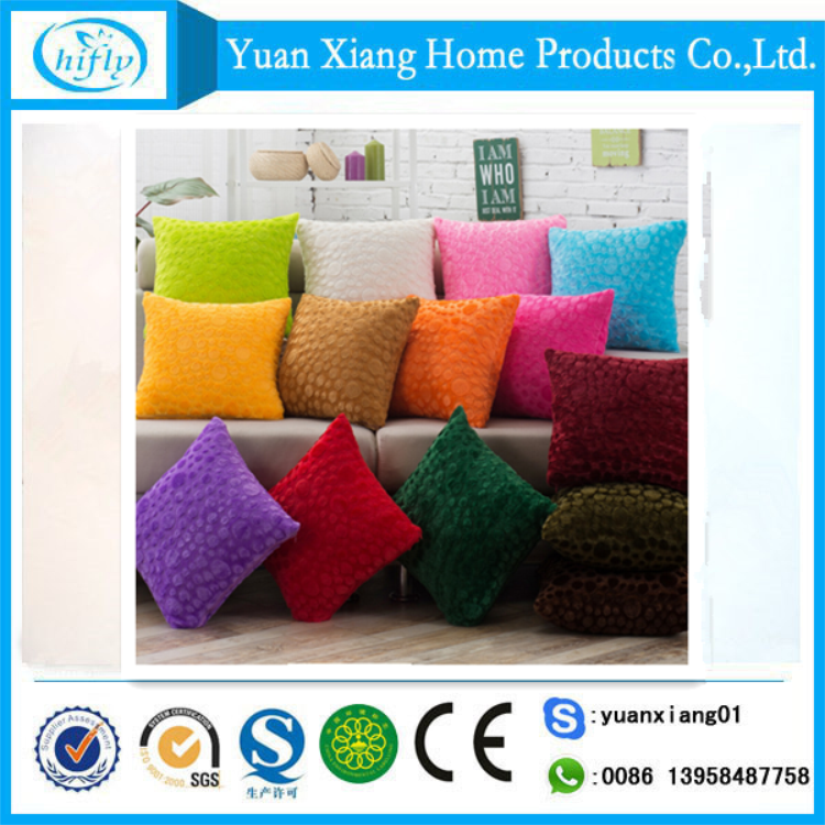 Colorful comfortable shaggy 45x45 sofa cushion for sale