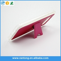 Wholesale stand with credit card slot leather case for sumsang s4 I9500
