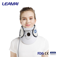 Neck Pain Relief Belt Spinal Air Traction Plastic Adjustable Cervical Collar