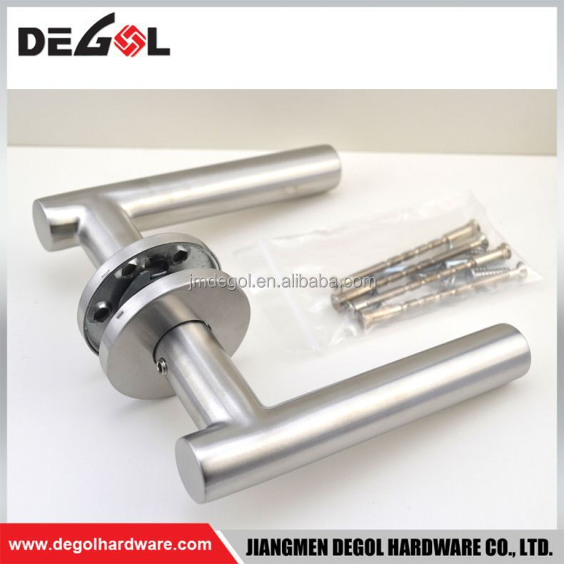 Hot Sale elegant stainless steel tube lever apartment sierra leone door handle