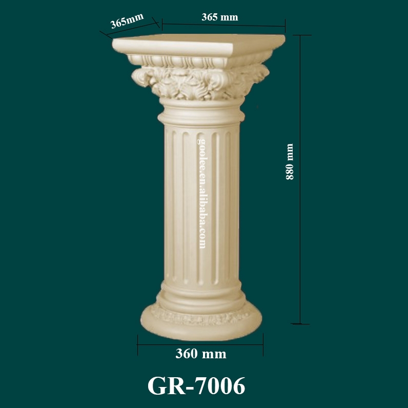 European-style Polyurethane Decorative Columns for Modern Houses and Weddings
