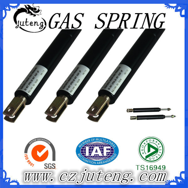 Low pressure compression adjustable gas strut shocks