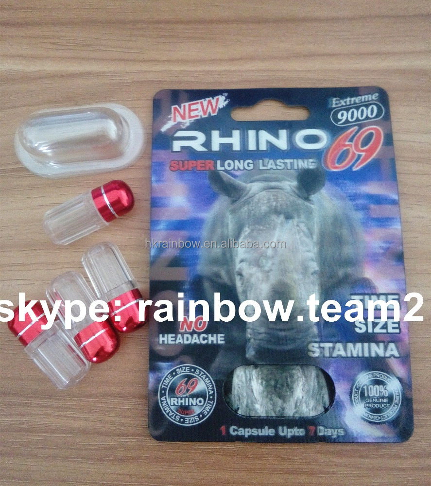 Rhino 69 3d card for 30ml twist top unicon bottle packaging/blister paper cards for sex capsule container
