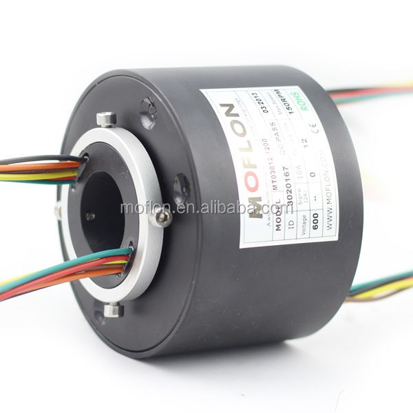 Through bore 30.00mm slip rings MT030 series slip ring rotary joint electrical connector
