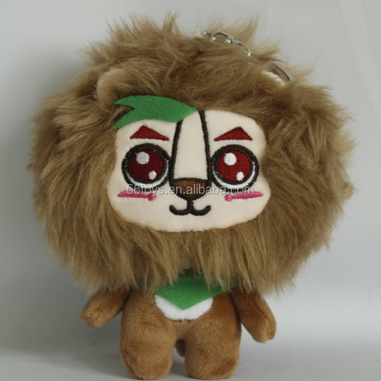 plush toys OEM factory animal plush lion keychain stuffed lion toys