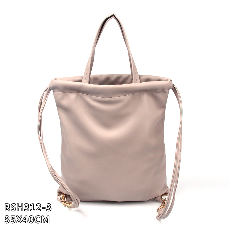 Wholesale new design trendy double use PU leather handbags