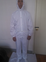 Custom White Safety 2-piece Pant Shirt Cotton Coverall