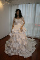 Real pictures high class short sleeves popular design wedding dress OW39