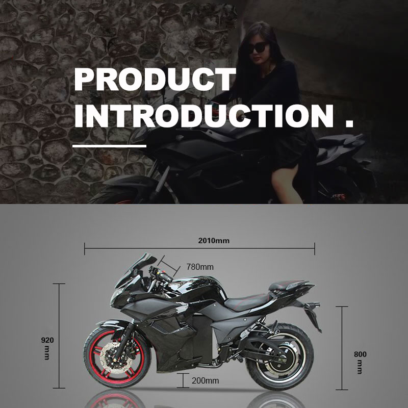 Full Size 2000w to 5000w Electric Racing Motorcycle for Adult