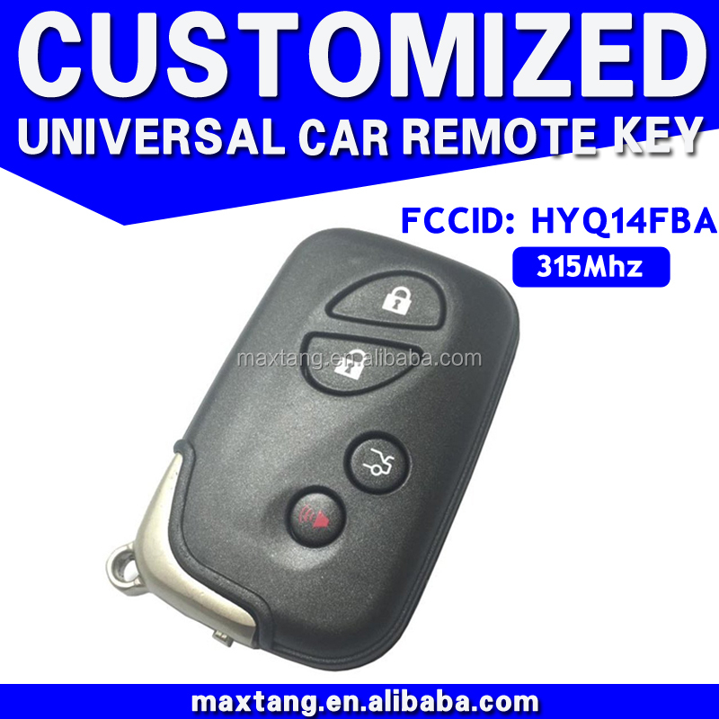 Remote Universal Key 4 Button Smart Auto Key For Lexus Good Quantity 315MHZ Remote Key MTF-103150