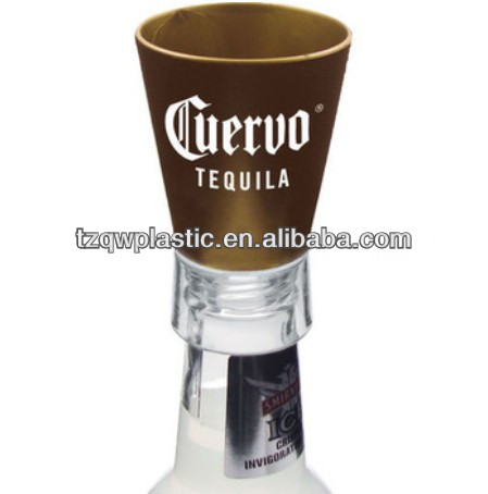 1.5OZ bottle top plastic shot glass for wine