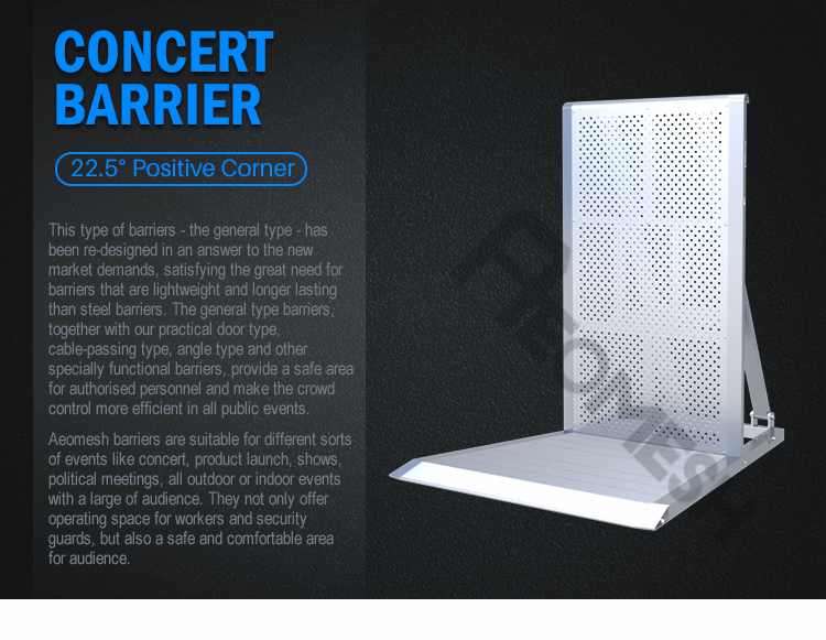 AEOBARRIER 22.5 degree corner Concert Barrier