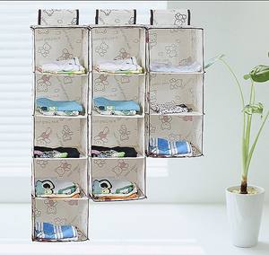 Living room storage jewelry organizer wall fabric storage cubes hanging closet organizer