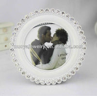 White round metal photo frame eco-friendly zinc alloy photo frame high quality MDF back wholesale