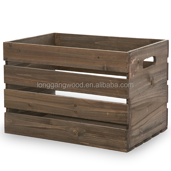 Antique brown wooden wine crate fruit crates for sale for Where can i find old wine crates