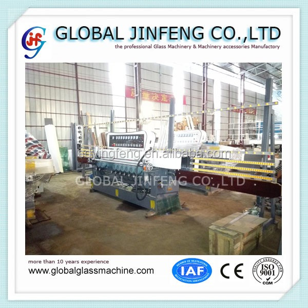 JFB-261 9 motor glass straight line beveling and polishing machine with CE