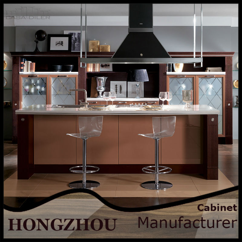 Alibaba China Modern Integrated Whole Set Acrylic MDF High Gloss kitchen cabinet Manufacturer