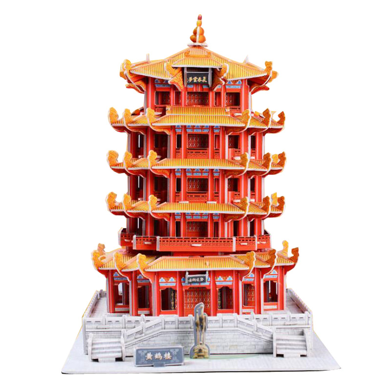 Wholesale Custom Chinese Architecture 3D Jigsaw Puzzle