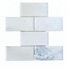 Decorstone24 Italian Calacatta Gold Marble Tile Mosaics Subway Tile For Bathroom