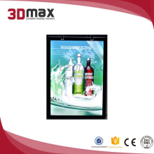 Street rectangle tempered glass advertising pole light box for advertising use