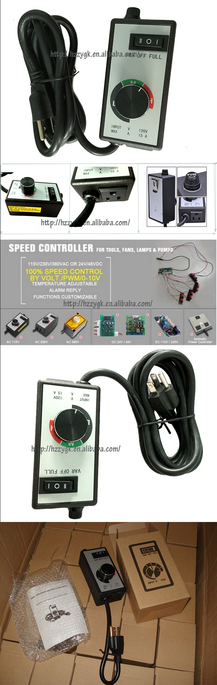 Single phase ac motor speed controller for inline duct fan for Single phase ac motor control