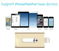 Factory directly DUAL USB 2.0 Pendriver for iPhone OTG USB Flash Driver for APPLE Device