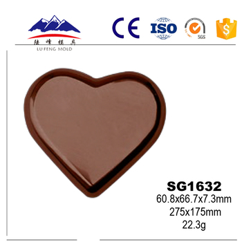 Wholesale Classical Heart-shaped Silicone Chocolate Molds with BPA Free