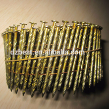 15 degree wire collated coil nails for wooden pallets