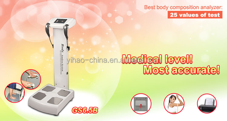 HOT SALE!GS6.5B BIM health analyzer machine,body fat/weight analyzer,metabolic age analyzer
