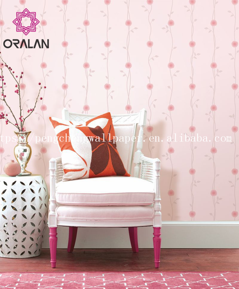 Beautiful floral wallpaper pvc vinyl european style for home decor