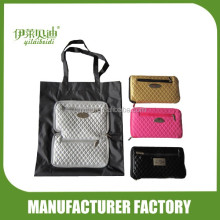 Foldable Shopping Bag in 210D polyester with PU