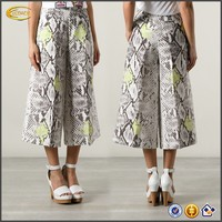 cropped ladies trouser cutting Multicolour cotton blend pant and trouser