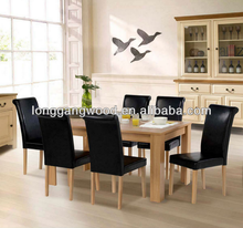 made in China chinese style solid wood set modern fashion 1+6 dining room table and chairs