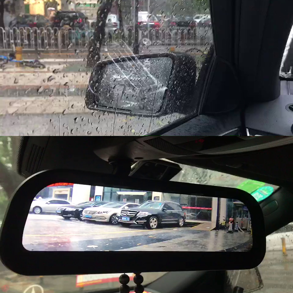 Car Security Camera Safety Driving Rear View Mirror Anti-Rain & Fog Electronic Rearview Mirror
